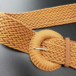 Woven belt camel
